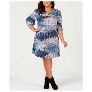 NY Collection Plus Size 2X PETITE  A-Line Dress